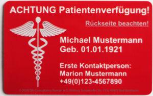 Patientenverfügungskarte